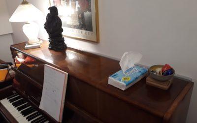 postreatment: why do I hold handkerchiefs on my piano
